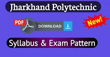 Jharkhand Polytechnic Syllabus 2019