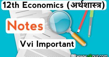 12th Economics important Questions PDF 2019-20: 12th economics important questions pdf in hindi & english, अर्थशास्त्र class 12th economics vvi important notes.