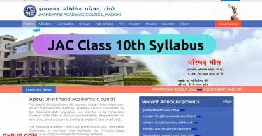 JAC 10th Syllabus 2022