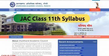 JAC 11th Syllabus Arts, Science & Commerce
