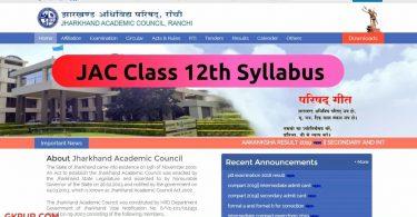 JAC 12th Syllabus 2022
