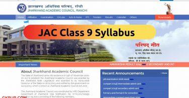 JAC Class 9 Syllabus 2022